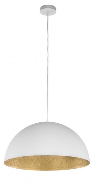 TUBA suspension diam 69,5cm exterieur BLANC intérieur OR E27 60W