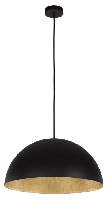 TUBA suspension diam 50cm exterieur Noir intérieur OR E27 60W