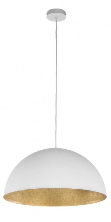 TUBA suspension diam 50cm exterieur BLANC intérieur OR E27 60W