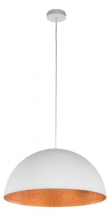 TUBA suspension diam 35cm exterieur Blanc intérieur Cuivre E27 60W