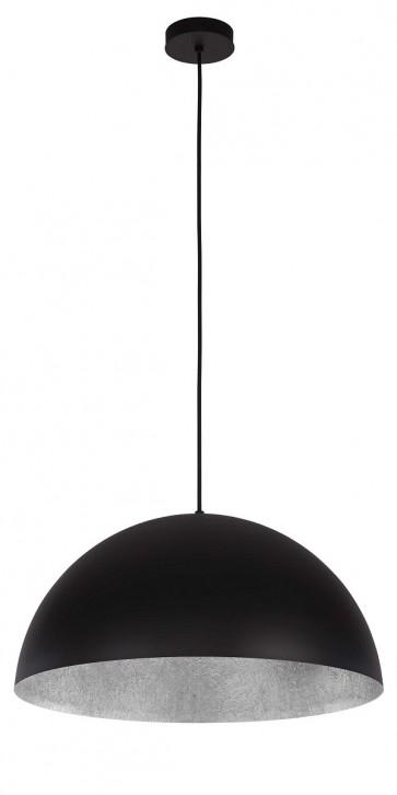 TUBA suspension diam 35cm exterieur Noir intérieur Argent E27 60W