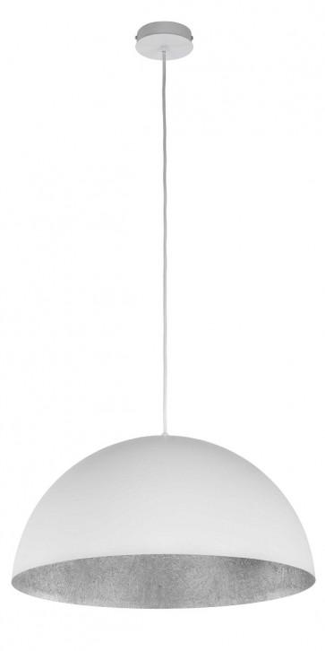 TUBA suspension diam 35cm exterieur Blanc intérieur Argent E27 60W