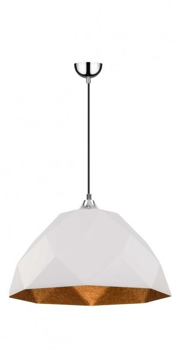 RICH suspension diam 35cm E27 60w extérieur blanc intérieur cuivre