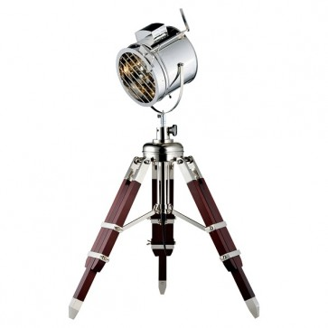 MOVIE lampe à poser Trépied hauteur 90cm E27 60W maxi aluminium wengé