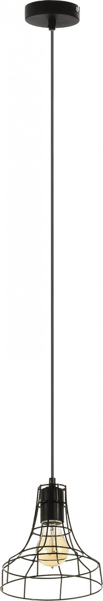OUTLINE suspension 1XE27 60W noir diam 18cm