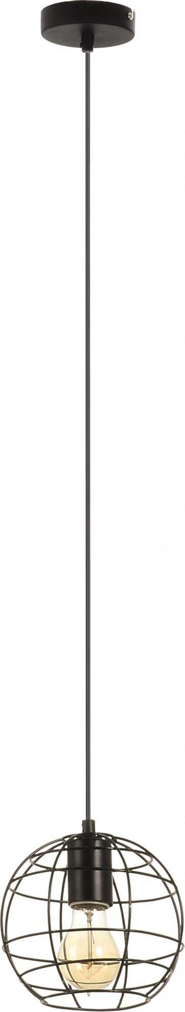 OUTLINE suspension 1XE27 60W noir diam 18.5cm