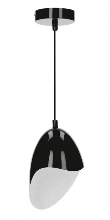 JENSEN suspension E27 60W métal noire diam 14.5cm