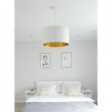 Victoria-suspension-blanc-abatjour-blanc-doré-1421802-allumé