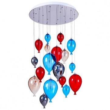 BALLOON plafonnier suspension 18 lumières incl. 18XG4 20W multicolore
