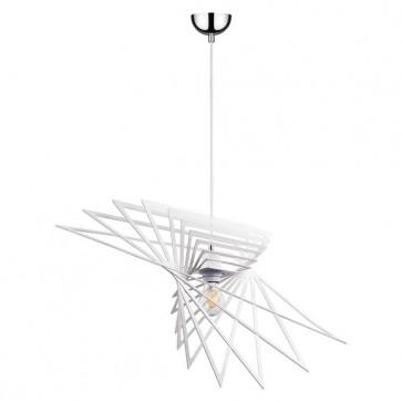 PLANET suspension design métal blanc diam 65cm E27 60W maxi