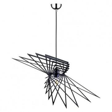 PLANET suspension design métal noire diam 65cm E27 60W maxi