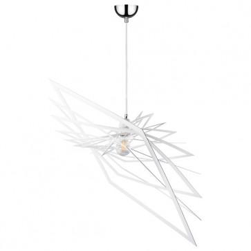 PLANET suspension design métal blanc diam 60cm E27 60W maxi
