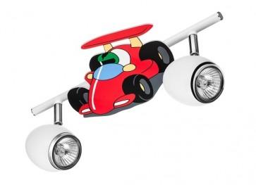 CAR formula barre de 2 spots long 33cm GU10 50W maxi voiture multicolore