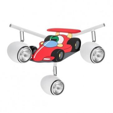 CAR formula plafonnier 3 spots diam 40cm GU10 50W maxi voiture multicolore
