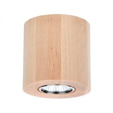 wooddream rond bouleau encastres plafonnier 2566160