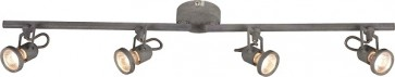 CONCRETO barre de 4 spots  incl. 4XLED GU10 4,5W métal couleur de béton Lg 78cm