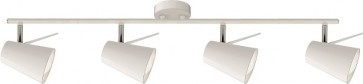 ASTRID barre de 4 spots blanc E14 maxi 40w Long 80.5cm