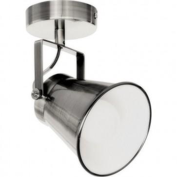 TEKLA spot retro nickel mat intérieur blanc E27 60w 18cm