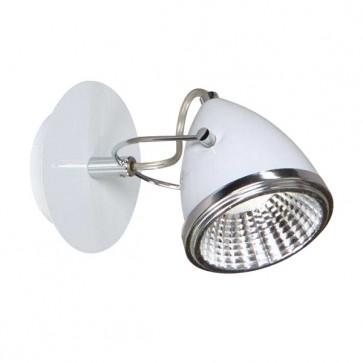 OLIVER spot patère blanc et chrome GU10 led 5W 450 lumens avec ampoule