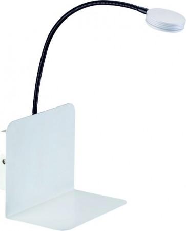 ARLES LED applique étagère carré interrupteur 3w 270 Lumens 3000k