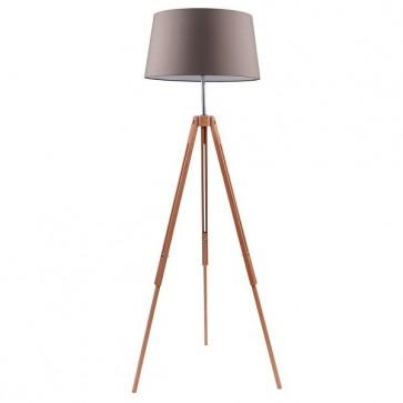TRIPOD lampadaire E27 60W hêtre hauteur 162cm