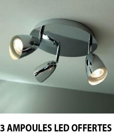 Plafonnier einstein ampoules led
