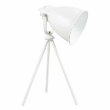 MARLA Lampe de table trépied E27 60W blanc haut 43.5cm
