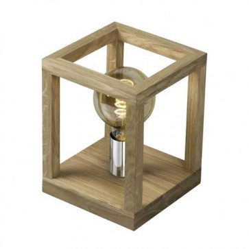 kago-lampe-à-poser-bois-chene-1L-douille-metal-chrome-7158174
