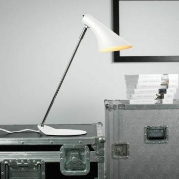 Lampe à poser VANILA Blanc Mat E14 40W haut 45cm avec interrupteur nordlux
