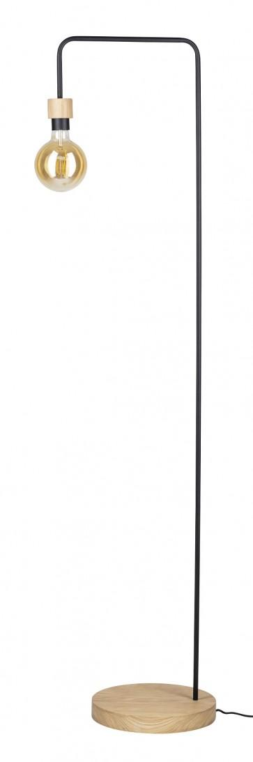 lampadaire E27 60W hauteur 160cm bois chêne huilé MURIEL