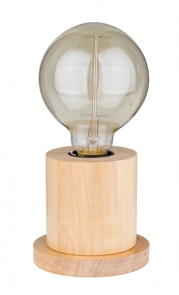 lampe de table 1XE27 60W diam 10cm H10cm bouleau TASSE promotion ampoule led filament incluse