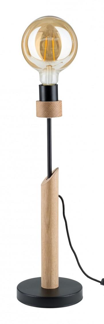 lampe de table chene huilé E27 60W maxi haut 50cm SOLANGE