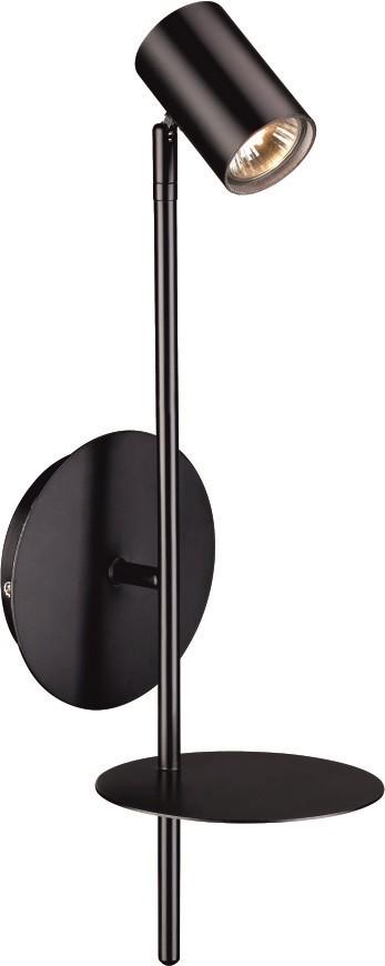 ROGNA applique étagère noire GU10 50w haut maxi 51cm