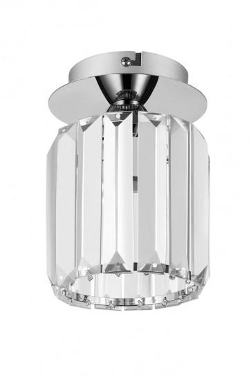 MERILO plafonnier diam 12cm verre chromé E27 60w maxi