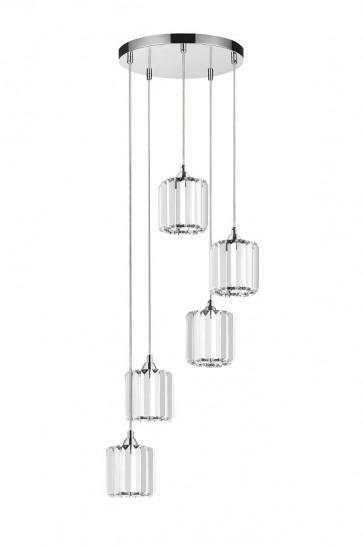 MERILO plafonnier suspension 5 lumieres 5x60w E27