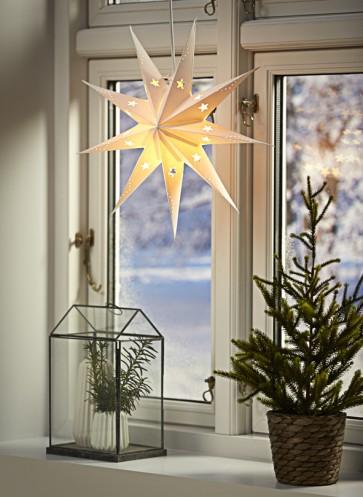 étoile à suspendre papier led nordlux