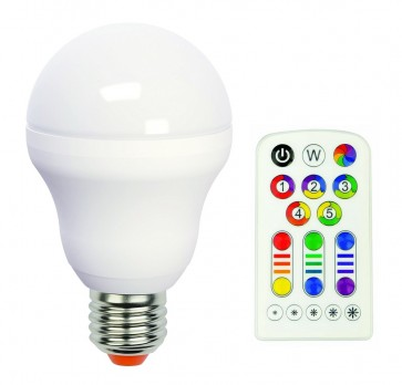 Ampoule Led RGB idual E27 + télécommande