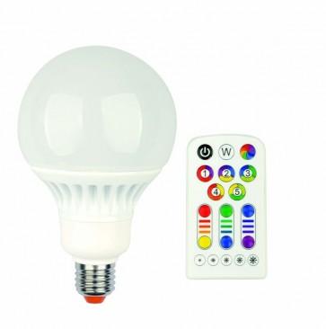 Ampoule G100 Led RGB idual E27 + télécommande