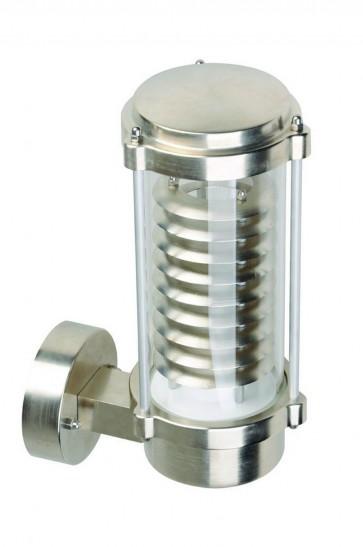 Applique montante extérieure DORA Led intégrée 12W acier brossé