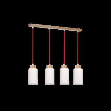 suspension-bosco-barre-de-4-suspensions-chêne-câble-tissu-rouge