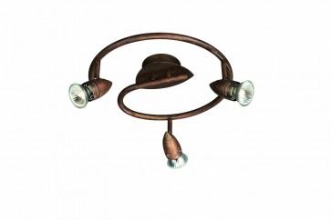 Plafonnier COMET Spirale 3 x 50W Bright Brun