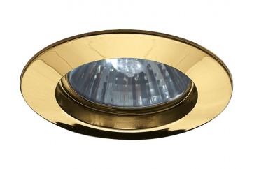 Encastré standard alu doré IP44 230V sans ampoule Gu10
