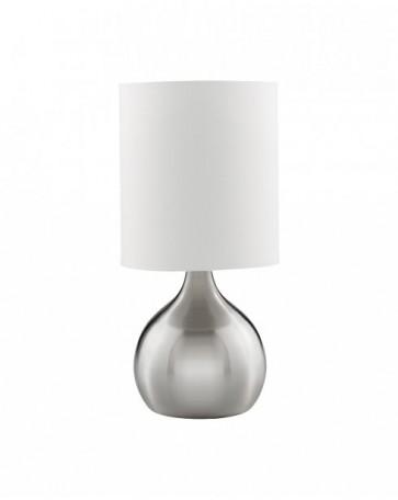 Lampe de bureau tactile DIMPLES TL Boule Acier Brossé