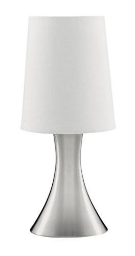 Lampe de bureau tactile DIMPLES TL Trompette Acier Brossé