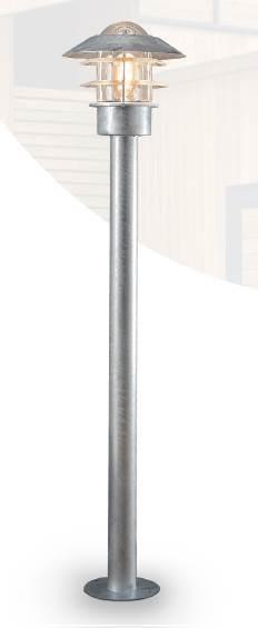 FLY Borne potelet extérieur 1M acier galvanisée E27 60W haute résistance