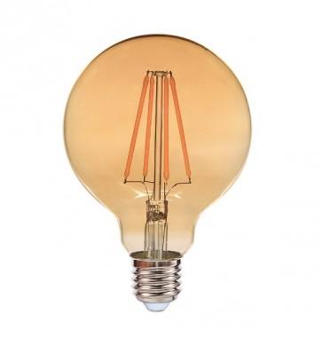 EDDY ampoule G80 filament led ambré douille E27 540 lumens 6W