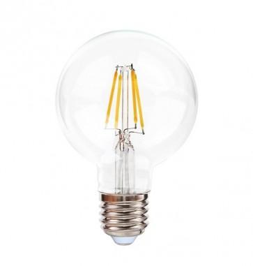KLARA ampoule G80 filament led claire douille E27 600 lumens 6W