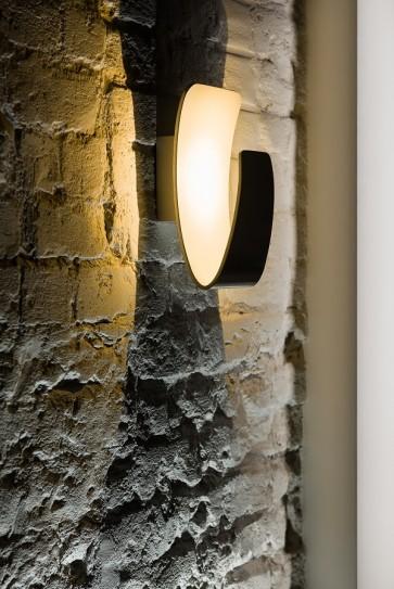 GONDOLA applique led 6w 300 lumens métal extérieur blanc intérieur blanc