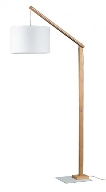 jeunesse lampadaire 144cm e27 40w abat jour textile diam 40cm blanc 1267174