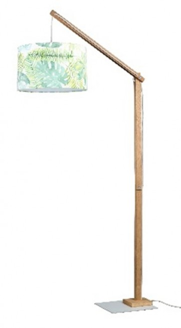 jeunesse lampadaire jungle 165cm haut diam 38cm abat jour textile 12617160